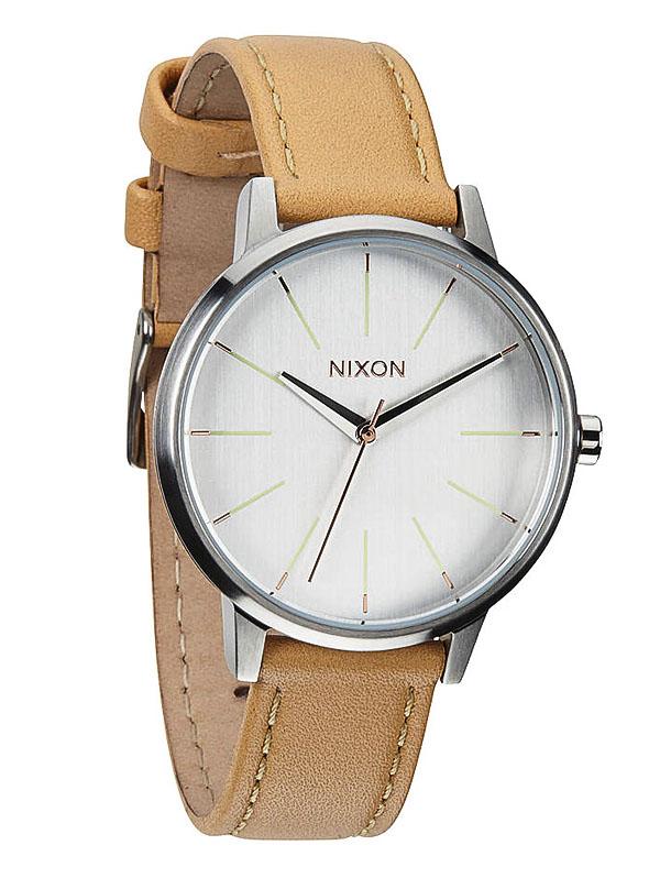 cb8a7b8f2f7 Nixon KENSINGTON LEATHER NATURALSILVER dámske analógové hodinky   Swis -Shop.sk