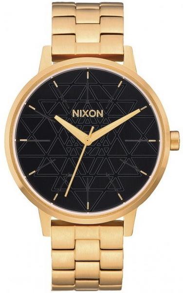 ee8bd12e107 Nixon KENSINGTON GOLDBLACKSTAMPED dámske analógové hodinky   Swis-Shop.sk