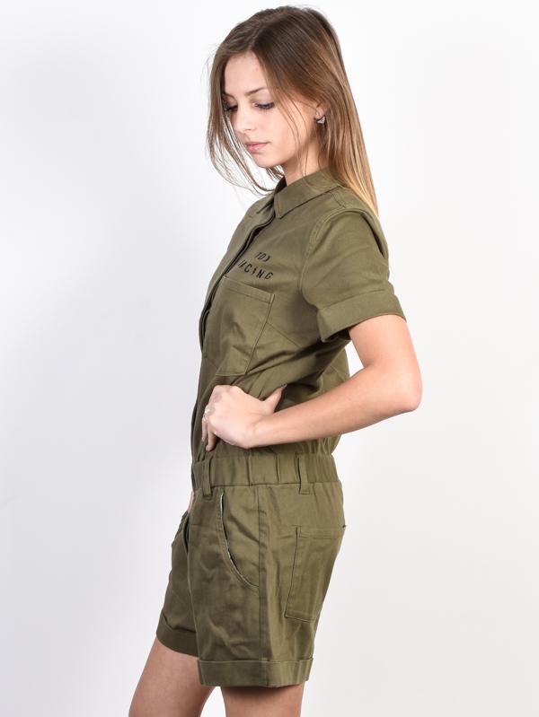 4c2540aad46 Fox Wrenching Romper FATIGUE GREEN plesové šaty krátke   Swis-Shop.sk