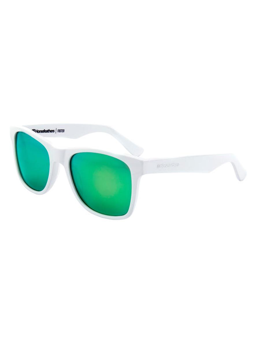 Horsefeathers FOSTER white mirror green pánske okrúhle slnečné okuliare    Swis-Shop.sk 3ad3a2c09c5