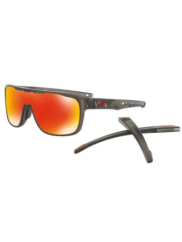 Oakley Crossrange Shield MATTE GRAY SMOKE   PRIZM RUBY pánske okrúhle  slnečné okuliare   Swis-Shop.sk 50fab56dea7