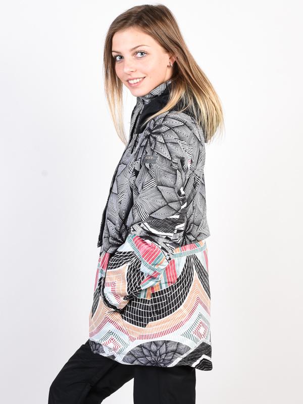 Roxy FROZEN FLOW TRUE BLACK POP SNOW STARS zimná dámska bunda   Swis-Shop.sk d38eed4d173