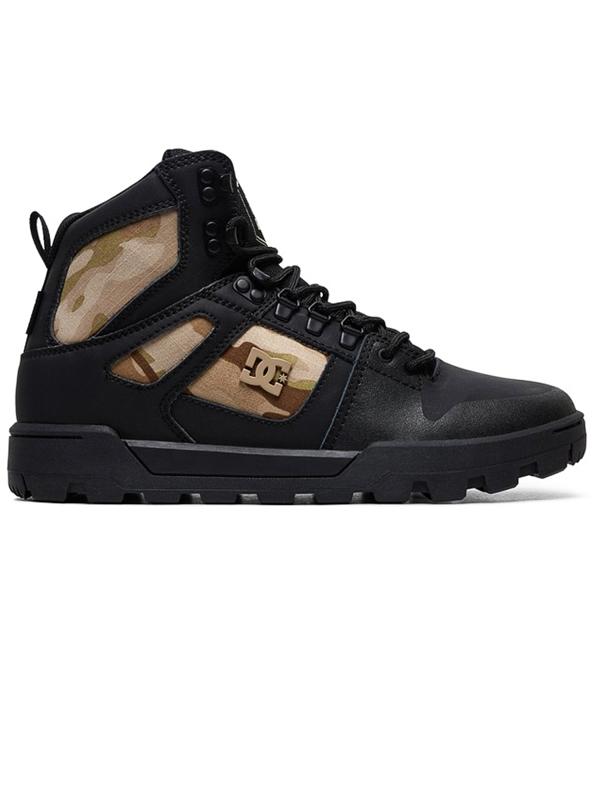 55405ce3a Dc PURE HIGH-TOP WR black camo zimné topánky pánske / Swis-Shop.sk